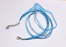 Шнурок на шею чокер, голубой. 40 см