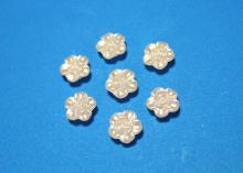 Полубусины Розочка белая, 12 мм