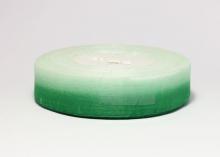 Органза градиент бело-зеленая. 25 мм