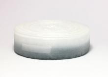 Органза градиент бело-серая. 25 мм
