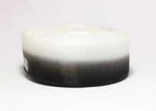 Органза градиент бело-черная, 40 мм