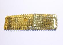 Повязка с пайетками, 4,5 см, Золотая