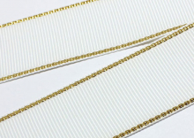 Репс с люрексом Золото Белый 029, 38 мм