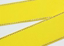 Репс с люрексом Золото Желтый 645, 38 мм