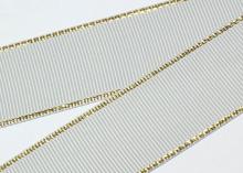 Репс с люрексом Золото, Серый 007, 38 мм