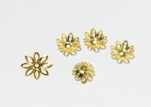 Шапочки для бусин 8-листник, 14 мм Золото