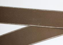 Репс с люрексом ЗОЛОТО Коричневый-850, 38 мм
