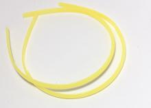 Ободок пластиковый, 0,8 см. Желтый
