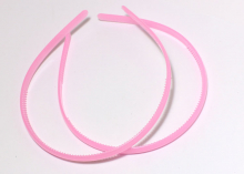 Ободок пластиковый, 0,8 см. Розовый