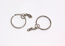 Кольцо с цепочкой для брелока, под серебро, 25 мм