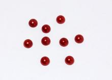 Полубусины красные, 8 мм (уп. 40 шт)