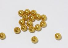 Бусины пластиковые под Золото 10 мм (18-20 шт)