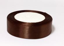 Лента атласная, коричневая-032, 25 мм