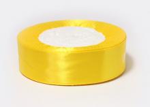 Лента атласная, желтая-132, 25 мм