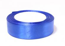 Лента атласная, синяя-040, 25 мм
