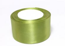 Атласная лента оливка-98, 50 мм