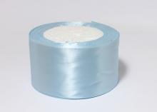 Атласная лента Голубая-104, 50 мм