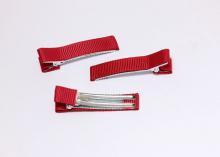 Зажим металл+ткань, 5 см, темно-красный