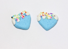 Кабошон сердце, 25 мм, голубое