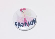 Кабошон с закатной картинкой Девушка мода, 32 мм