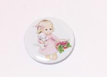 Кабошон с закатной картинкой Девочка малышка, 32 мм