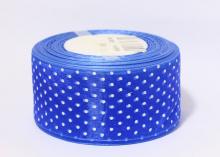 Органза горох, Синяя, 50 мм