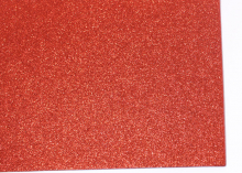 Фетр глиттерный, Красный, 20х30 см