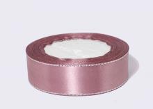 Лента атласная люрекс серебро, Пенка, 25 мм