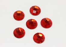 Полубусина граненая Красная, 16 мм