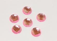 Полубусина граненая Розовая, 16 мм