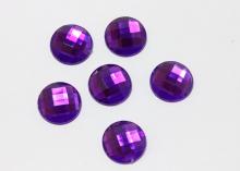 Полубусина граненая Фиолетовая, 16 мм
