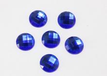 Полубусина граненая Синяя, 16 мм