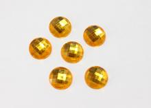 Полубусина граненая Желтая, 16 мм