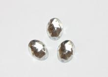 Кабошон овальный 13*18 мм, серебро