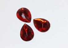 Кабошон Капля, Красный 25х18 мм