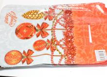 Пакет подарочный Новый год красные шарики 20х30 см
