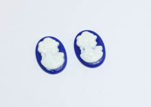Камея, 18*13 мм. Цвет синий