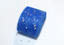 Фатин с блестками голограмма, 5 см, Синий
