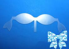 Шаблоны для бантиков с нижними хвостиками на 7 см и 9,5 см. 2 детали. ПЭТ 0,7