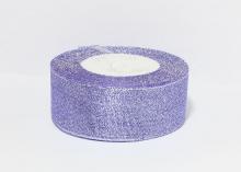 Парча сиреневая серебро, 40 мм
