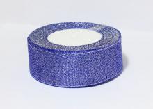 Парча Синяя-серебро, 40 мм
