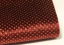 Ткань жесткая с ворсом Бордовая + глиттерная точка, 20х30 см (+-1 см)