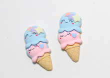Кабошон Мороженое двойное, 34 мм