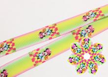Репсовая лента Минни с тюльпанами для острых лепестков, 25 мм