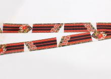 Репсовая лента 9 мая Хвостики для броши, 25 мм
