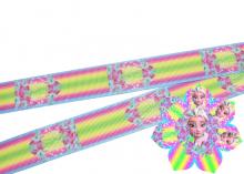 Репсовая лента компаньон для Эльзы в цветах острый лепесток, 25 мм