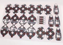 Глиттерный фетр шаблоны Бантики Ученица, 20х30 см