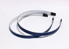 Ободок с зубчиками в репсовой ленте Темно-синий, 1 см