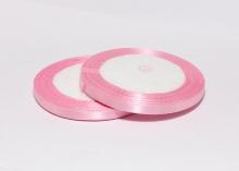 Лента атласная, 6 мм. Розовый-043 (боб. 22м)