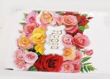 Пакет подарочный Разноцветные розы. 20х30 см